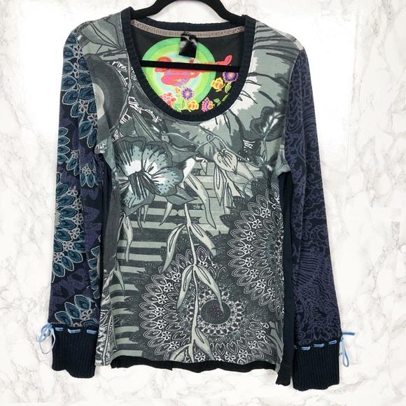 1fa83dcc41acf Desigual Tops | Mandala Floral Long Sleeve Shirt Size Xl | Poshmark